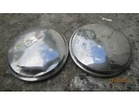 two chrome taxi fx4 hub caps dented , bromley kent