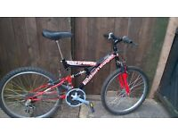 boys n girls suspension mountain bikes with 24 inch wheels girls has disc brakes