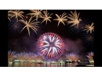 2 New Years Eve Fireworks Tickets - Red Zone