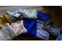 Bundle of 9 jumpers size 8-10