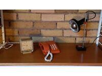 VINTAGE 80s ORIGINAL BRITISH TELECOM VISCOUNT PUSH BUTTON BURNT ORANGE TELEPHONE GWO FAB RETRO DECOR