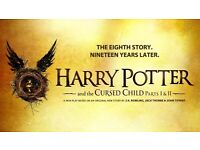2 x Harry Potter Cursed Child Tickets, Front Row, 19th July 2017.