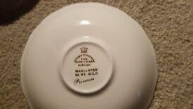 Leonard Street Pottery, Burslem, Princess Collection - 6 saucers
