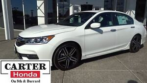 2016 Honda Accord Sport + 19 WHEELS + SPOILER + LOW KMS! + CERTI