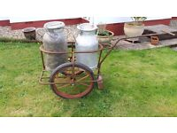 milk cart and churns