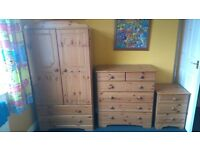 Child/Baby Furniture - Wardrobe, Drawers & Bedside Table Unit