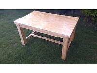 Pine dining / Kitchen table, solid wood, chunky legs