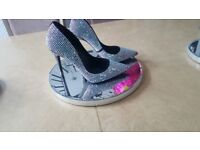 Swarovski encrusted shoes by Schuh (size 4 )