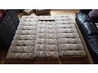 Caravan, campervan, self build sofas/bed cushions. Brilliant condition no tears, makes a double bed