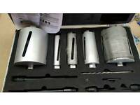 Diamond core bit set