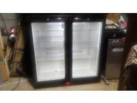 """Double bottle chiller / refrigerator / fridge / drinks cabinet / back bar"""