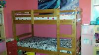 wooden bunk beds like new...