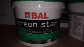 BAL Green Star Tile Adhesive for Walls 15Kg Unused