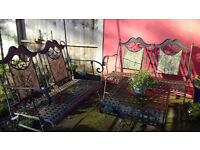 Lovely Garden and Patio metal furniture set (2 double chairs and table)