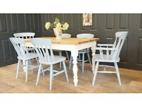 Imperious 6ft Shabby chic table set
