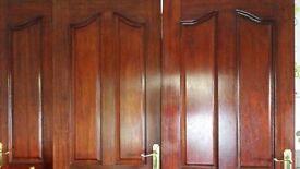 3 Mahogany doors