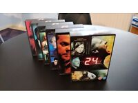 24 TV Series Boxsets, starring Kiefer Sutherland. Seasons 1 through 6 (a total of 41 DVDs).