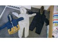 Boys 9-12 months snowsuits and jacket