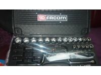 FACOM AF SOCKET SET 3/8 TO 1 1/4inches