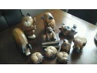 Wooden animals bundle