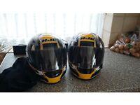 2 HJC Helmets