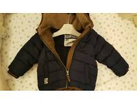Next baby boy winter jacket 9-12 months
