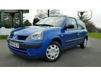 **AUTOMATIC**2005**RENAULT CLIO 1149cc**LOW WARRANTED MILEAGE 54000**FULL SERVICE HISTORY**AIRCON**