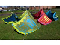 North Dice 2015 kitesurfing kites set in great condition and price
