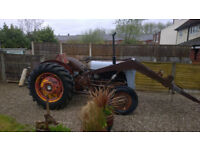 1957 furgson fe 35 diesel tractor with loader no rust ready for paint first time starter vintage