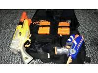 Nerf jackets and 2 guns