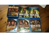 Pirates of the Caribbean Blu-Ray Complete Collection - Bundle *FREE UK TRACKING*
