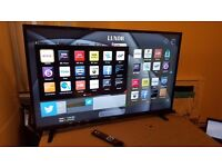 """LUXOR 43"""" SUPER Smart LED FULL HD TV,built in Wifi,Freeview HD, NETFLIX,GREAT Condition"""