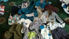 Baby boy clothes 3 to 6 month 1 & a half bin bags