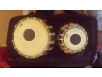 Tabla Drums with case - authentic Indian tabla set-nearly new-Jes brand, Collection only