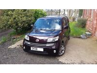 Daihatsu Materia cube car with towbar and certified lpg system