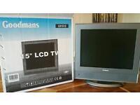 Goodmans 15 inch flat screen TV LCD