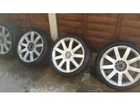 "5x100 5x112 18""8j wheels and tyres"