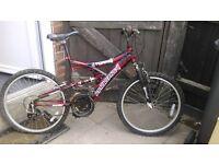 Magna Torrid 18 speed mountain bike, Duel Suspension