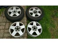 4 Wheels and 2 tyres for golf, passat, touran