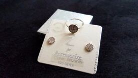 Brand new earrings and ring set
