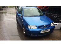 2001 Volkswagen Polo se Tdi Diesel 5dr Hatchback 1.5L Blue BREAKING FOR SPARES