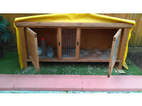 guinea pig/rabbit cage one inside and one out for sale