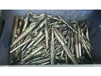 Large variety of steel drill bits and reamers