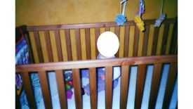 Wooden Baby Cotbed & Water repellent Mattress