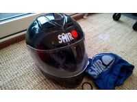 Motorbike Helmet: Black Shiro SH-996, size M, full face