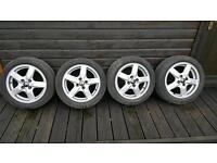 "15"" Alloy Wheels 4x100 (MX5, 206, 207, Polo, Golf, Fiesta, Clio, Leon)"