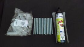 20 x Chemical resin fixing tubes (330ml) plus 200 x m12 studding (120mm long) plus 200 x sleeves.