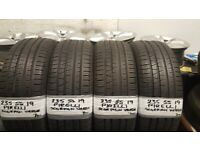 MATCHING SET OF 4 x 235 55 19 PIRELLI SCORION VERDES HARDLY USED 7MM TREAD £180 SET OF 4 FITD & BAL