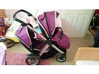 Oyster Max Tandem with Carrycot double pushchair