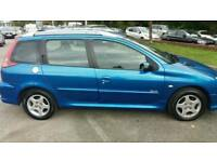 PEUGEOT 206 1.4 HDI VERVE ESTATE 1 OWNER FROM NEW FULL SERVICE 1 YEARS MOT